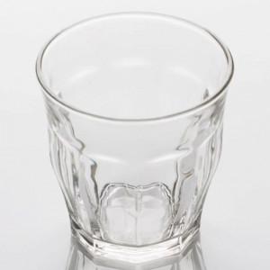 Set 3 pahare din sticla Pufo Drink cu gat larg, 300 ml