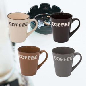 Set 4 cani pentru cafea, Pufo coffee, 355 ml, ceramica
