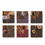 Set suport pahare, 6 bucati, model Coffee , Pufo