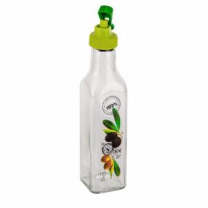 Sticla pentru ulei Pufo cu dispenser, transparenta, 250 ml