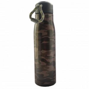 Sticla termos metalica Pufo Army pentru bauturi, izoterm, 550 ml