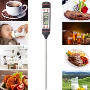 Termometru digital cu sonda pentru bucatarie, lichide, alimente, lactate, prajituri, ceara, etc. -50° C - +300° C
