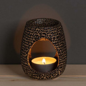 Vas din ceramica pentru aromaterapie Pufo, model tigrat