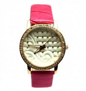 Ceas elegant de dama cu pietricele roz