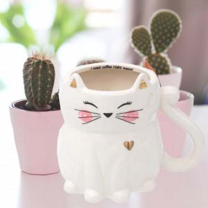 Cana din ceramica Pufo Catty, 420 ml