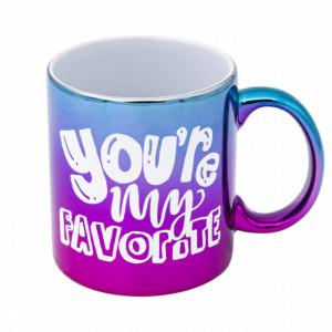 Cana uriasa ceramica You're my Favourite pentru cafea sau ceai, 590 ml, Pufo