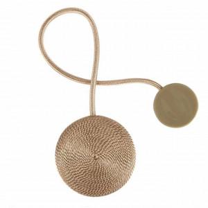 Cordon de strangere pentru perdea cu magnet, model Pufo, auriu