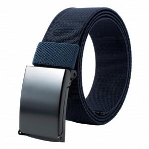 Curea centura Pufo Army Elite Edition pentru barbati 3.8 x 125 cm, reglabila, albastru