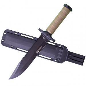 Cutit baioneta 34.5 cm Army Style, maner ergonomic cauciucat, teaca inclusa