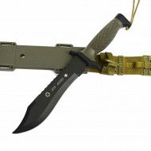 Cutit de vanatoare OSO NEGRO Deer Spirit 30,5 cm + teaca militara verde