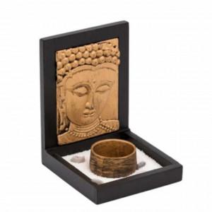 Decoratiune suport Pufo pentru lumanare cu Buddha