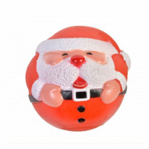 Jucarie minge Pufo pentru caine, model Santa