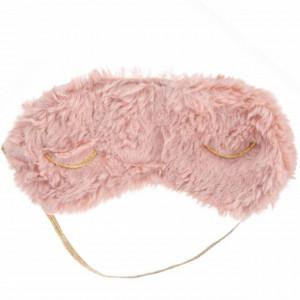 Masca pentru dormit sau calatorie, model Pufo Pinky, 19 cm