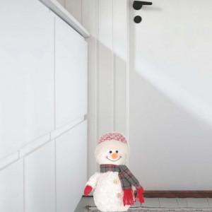 Mascota opritor usa textil Pufo, model Omul de zapada imbujorat