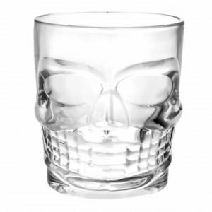 Pahar din sticla, forma de craniu, 270ml, Pufo