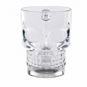 pahar sticla craniu