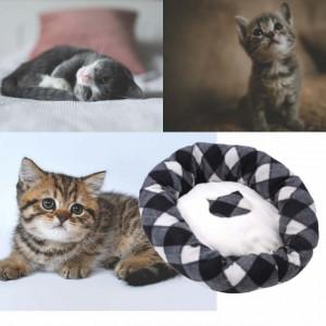 Pat confortabil pentru pisici sau caini, Pufo, 47 cm