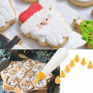 Pos de cofetarie pentru decorare prajituri, cu 8 forme