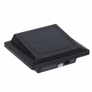 Proiector solar cu LED, senzor de miscare si brat metalic, Pufo, 13 x 13 cm