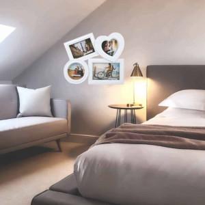 Rama foto decorativa cu 4 poze, model Pufo Love, 30 cm