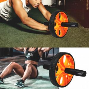 Roata antrenament fitness Pufo din otel cu manere confortabile