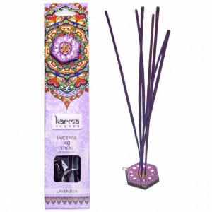 Set 40 betisoare parfumate cu aroma de lavanda si suport, potrivit pentru aromaterapie, Pufo