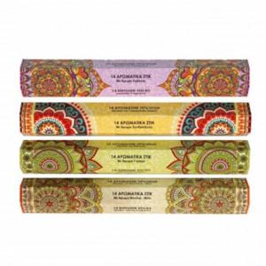 Set 56 betisoare parfumate pentru aromaterapie, cu 4 arome diferite, Pufo