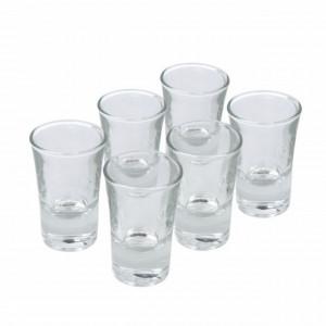 Set 6 pahare din sticla pentru shoturi, 50 ml