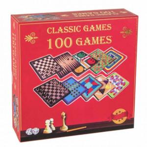 Set interactiv 100 jocuri clasice de masa pentru copii si adulti