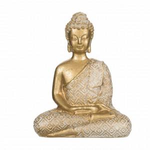 Statueta decorativa Buddha, 12 cm, Pufo, aurie