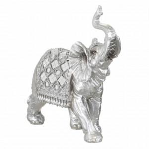 Statueta decorativa Pufo Silver Elefant, 17 cm, argintiu