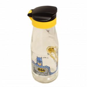 Sticla apa cu capac pentru copii, model Batman, 19 cm