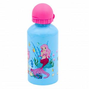 Sticla apa cu capac pentru copii, model Mica Sirena, 500 ml