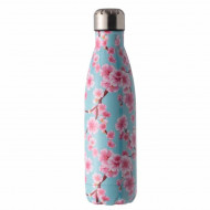 Sticla termos metalica Pufo Pink Floral pentru bauturi, izoterm, 500 ml