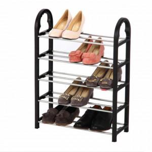 Suport pentru pantofi cu 5 rafturi, pliabil, 66 cm, Pufo