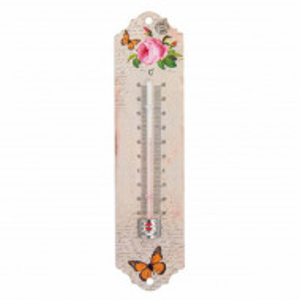Termometru de perete pentru exterior, Pufo Flower, 20 cm