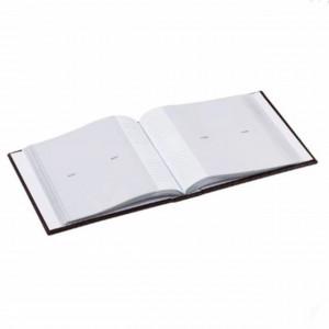 Album foto Pufo, coperta maro, design tip piele de crocodil, 22 x 22 cm