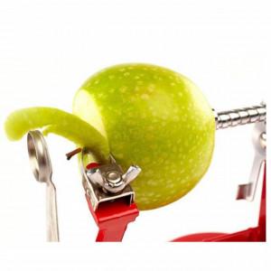 Aparat manual pentru curatat, scobit si feliat mere, Pufo
