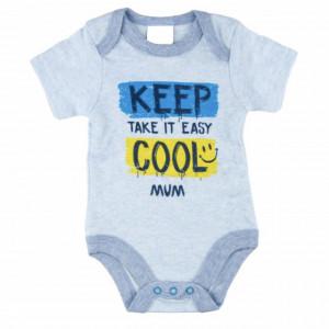 Body cu capse pentru nou nascuti, 0-3 luni, Keep Cool, albastru