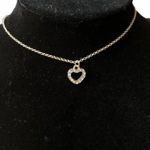 Bratara pentru glezna cu pandantiv in forma de inima, auriu