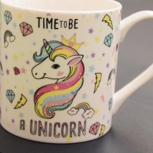 Cana ceramica Time be a unicorn, 350 ml