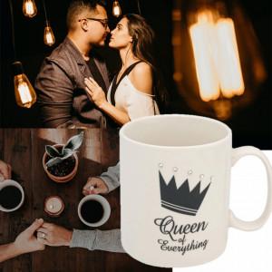 Cana pentru cafea Queen of everything, 530 ml