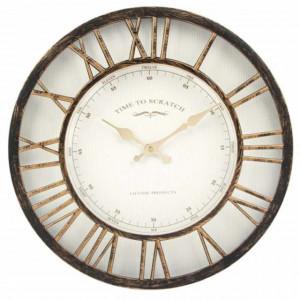 Ceas de perete mare, model Pufo Retro Vintage, 40 cm