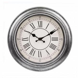 Ceas de perete rotund 30 cm, model Pufo Vintage, gri