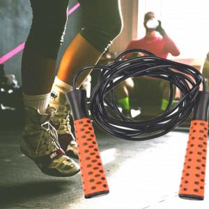 Coarda fitness pentru antrenament cardio, Pufo, 3 m, negru/portocaliu