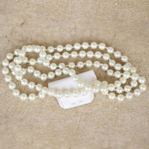 colier perle gri