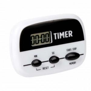 Cronometru digital Pufo cu afisaj pentru bucatarie, alb