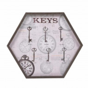 Cuier suport din lemn Pufo pentru chei, 33 x 29 cm
