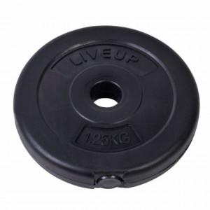 Disc greutate fitness pentru bara sau gantera, 1.25 kg, diametru 28 mm