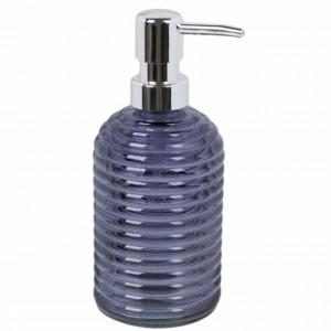 Dispenser din sticla pentru sapun lichid, Pufo Marine, 330 ml